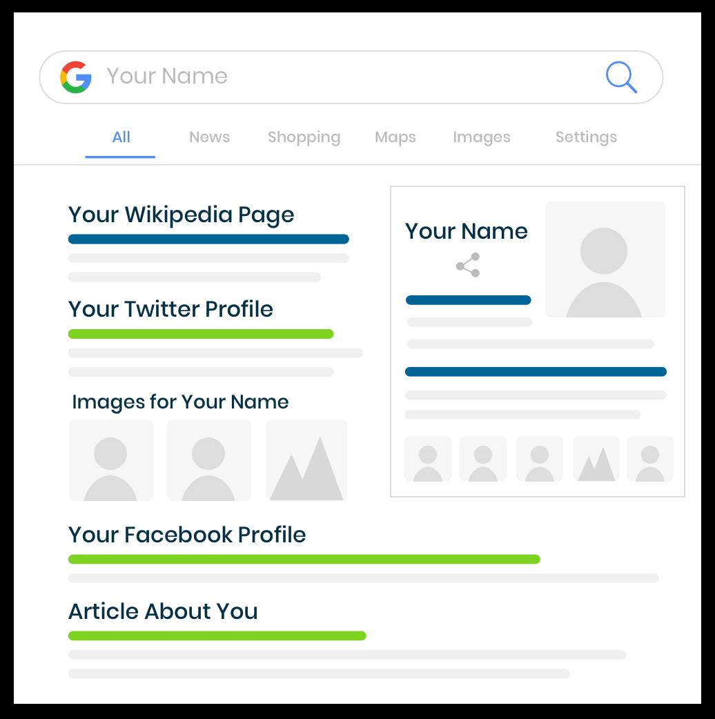 Wikipedia Google Search Mockup